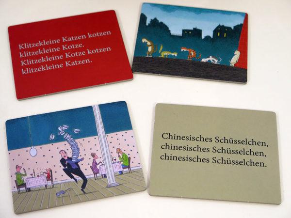 Zungenbrecher-Memospiel mit Illustrationen von Philip Waechter
