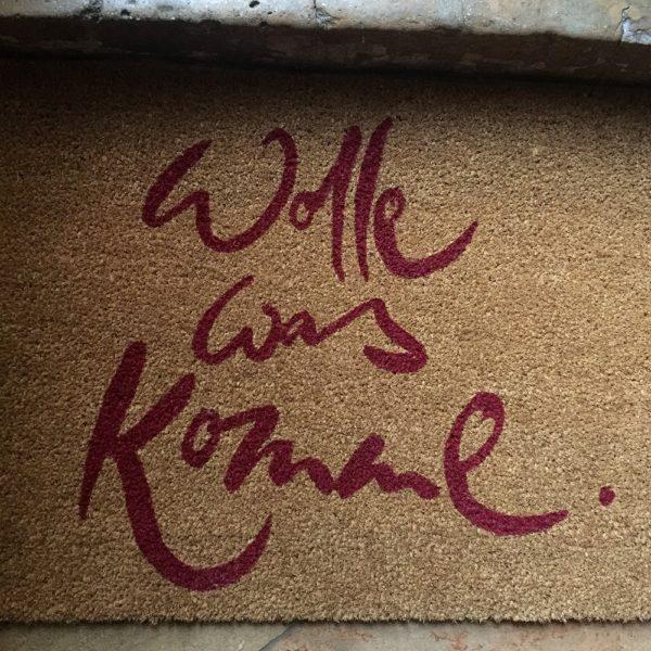 """Fußmatte """"Wolle was komme"""""""